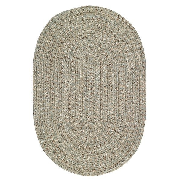 Capel Rugs Sea Glass Spa Oval Outdoor Braided Rugs - 2' x 8'