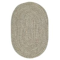 Capel Rugs Sea Glass Spa Oval Outdoor Braided Rugs (2' x 8')