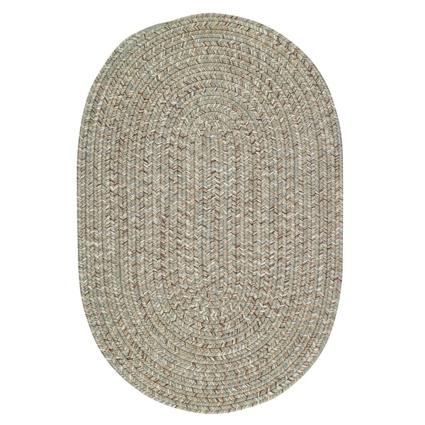 Capel Rugs Sea Glass Spa Oval Outdoor Braided Rugs