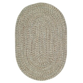 Sea Glass Spa Oval Outdoor Braided Rugs