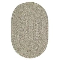 Capel Rugs Sea Glass Spa Oval Outdoor Braided Rug - 4' x 6'