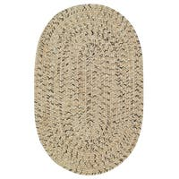 Capel Rugs Sea Glass Shell Oval Outdoor Braided Area Rug (4' x 6')