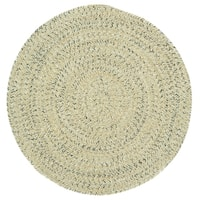Capel Rugs Sea Glass Shell Round Outdoor Braided Rugs - 3'