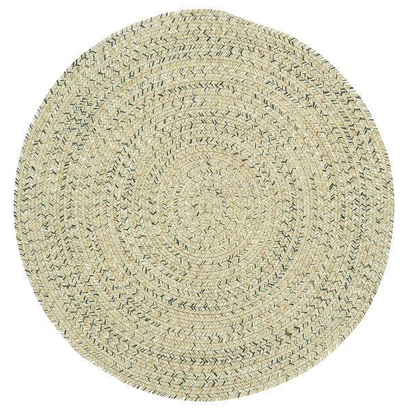 Capel Rugs Sea Glass Shell Round Outdoor Braided Rug