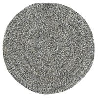 Capel Rugs Sea Glass Smoke Round Outdoor Braided Rugs (3')
