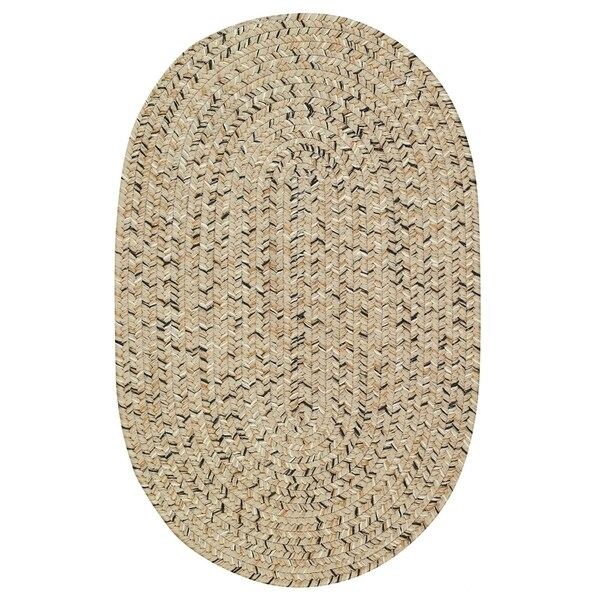 Capel Rugs Sea Glass Shell Oval Outdoor Braided Rug (5' x 8')