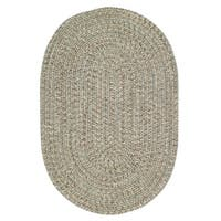 Capel Rugs Sea Glass Spa Sage/Multicolor Oval Outdoor Braided Rug - 5' x 8'