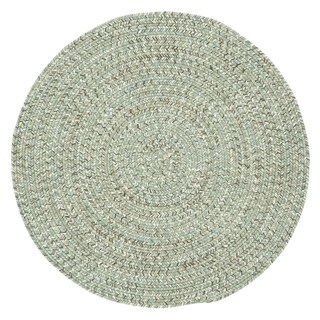 Sea Glass Spa Round Outdoor Braided Rugs