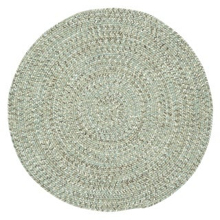 Capel Rugs Sea Glass Spa Round Outdoor Braided Area Rug - 7'6 Round