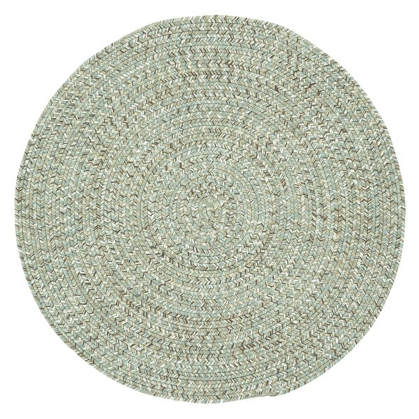Capel Rugs Sea Glass Spa Round Outdoor Braided Area Rug (8'6 x 8'6)