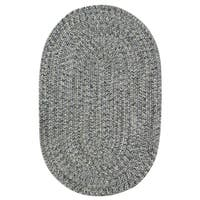 Capel Rugs Sea Glass Smoke Oval Outdoor Braided Rug (8' x 11')