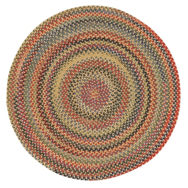 "Capel Rugs Songbird Gold Round Braided Rugs (5'6"")"