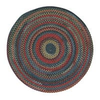 Capel Rugs Songbird Blue Wool-blend Round Braided Rug (7'6 x 7'6)