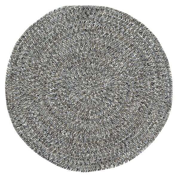 Capel Rugs Sea Glass Smoke Braided Outdoor Area Rug (7'6 Round)