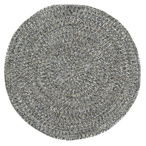Capel Rugs Sea Glass Smoke Grey Outdoor Braided Rug (5'6 Round)