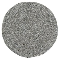 Capel Rugs Sea Glass Smoke Grey Outdoor Braided Rug - 5'6 Round