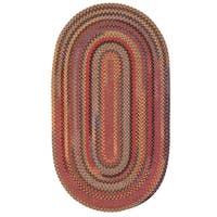 Capel Rugs Songbird Red Oval Braided Area Rug (8' x 11')