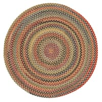 Capel Rugs Songbird Gold Striped Round Braided Rug (7'6 x 7'6)