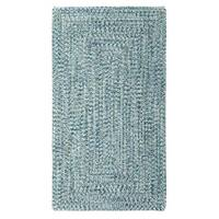 """Capel Rugs Sea Glass Blue Concentric Rectangle Outdoor Braided Rugs - 5'6"""" x 5'6"""""""