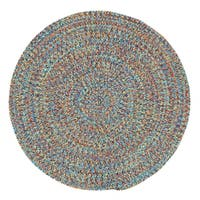 Capel Sea Glass Multicolor Round Outdoor Braided Rug