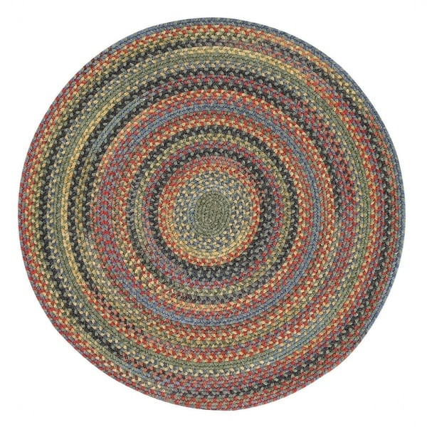 Capel Rugs Songbird Parakeet Round Wool-blend Braided Rug (8'6 x 8'6)
