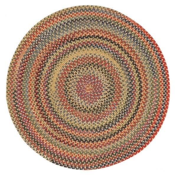 Capel Rugs Songbird Gold Wool Blend Round Braided Rug - 9'6 x 9'6