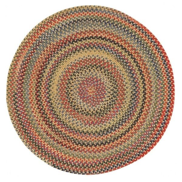 Capel Rugs Songbird Gold Wool Blend Round Braided Rug