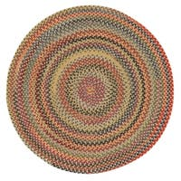 Capel Rugs Songbird Gold Wool Blend Round Braided Rug (9'6 x 9'6)