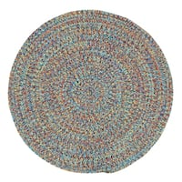 Capel Rugs Sea Glass Bright Multi Round Outdoor Braided Rug (8'6 x 8'6)