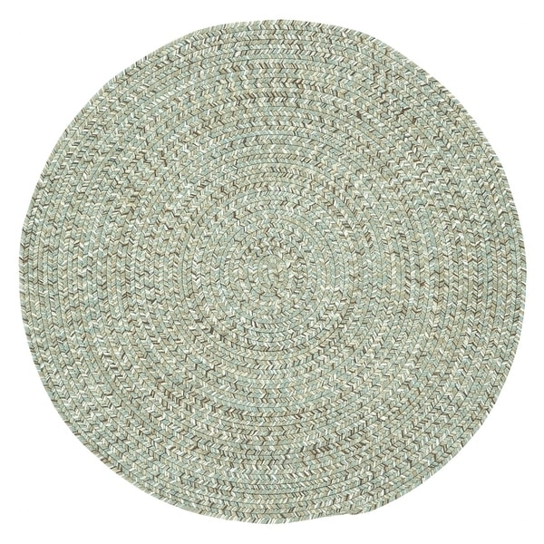 Capel Rugs Sea Glass Spa Solid Round Outdoor Braided Rug (9'6 x 9'6)