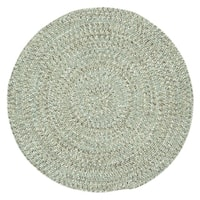 Capel Rugs Sea Glass Spa Solid Round Outdoor Braided Rug - 9'6 x 9'6
