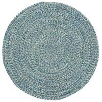 Capel Rugs Sea Glass Blue Round Outdoor Braided Rug (8'6 x 8'6)