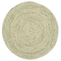 Capel Rugs Sea Glass Shell Round Outdoor Braided Area Rug
