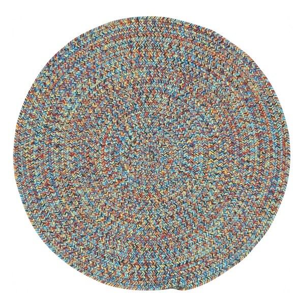 Capel Rugs Sea Glass Bright Multicolor Outdoor Braided Rug
