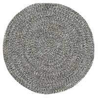 Capel Rugs Sea Glass Smoke Round Outdoor Braided Rug (8'6 x 8'6)