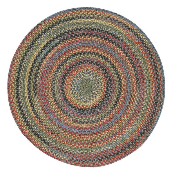 Capel Rugs Songbird Parakeet Wool-blend Round Braided Rug (5'6 x 5'6)