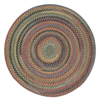 "Capel Rugs Songbird Parakeet Round Braided Rugs (5'6"")"