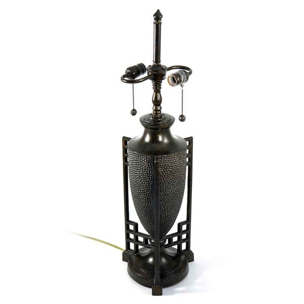 31 H in. Fieldstone 2 Light Metal Lamp Base MPN 369
