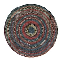 Capel Rugs Songbird Blue/Multicolor Braided Rug - 5'6 Round
