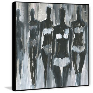 Marmont Hill - Handmade Night Catwalk Floater Framed Print on Canvas