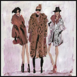 Marmont Hill - Handmade Fur Coats Floater Framed Print on Canvas