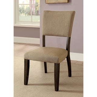 Furniture of America Teln Transitional Oak Dining Chairs Set of 2