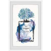 'Floral Blue' Framed Painting Print