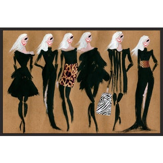 Marmont Hill - Handmade Glam Night Floater Framed Print on Canvas