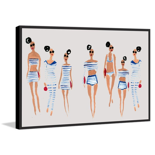 Marmont Hill - Handmade Nautical Summer II Floater Framed Print on Canvas