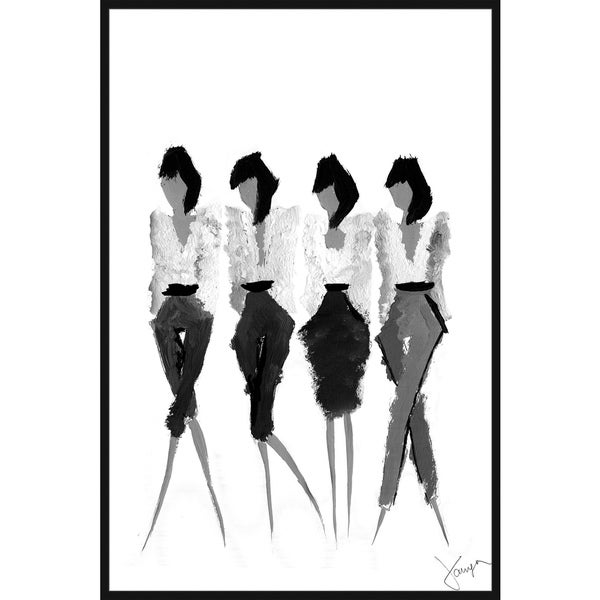 Marmont Hill - Handmade Pagegirls Floater Framed Print on Canvas