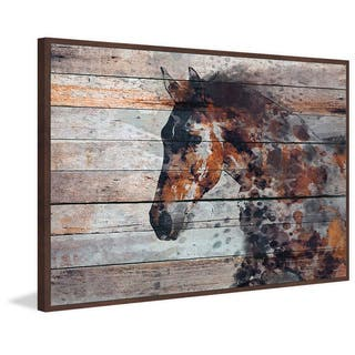 Marmont Hill - Handmade Fire Horse Floater Framed Print on Canvas