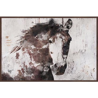 Marmont Hill - Handmade Gorgeous Horse Floater Framed Print on Canvas