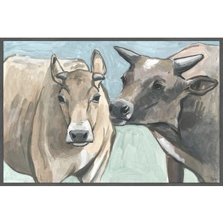 Marmont Hill - Handmade Vache Romance Floater Framed Print on Canvas
