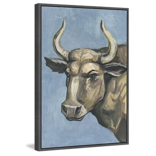 Marmont Hill - Handmade Bull Attitude Floater Framed Print on Canvas